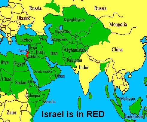 This map shows Iran and its surrounding countries It shows the