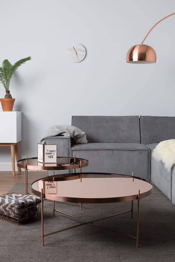 Kupfer wohnzimmertische and tische on pinterest for Living room ideas rose gold