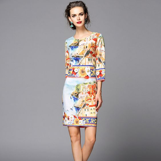 Find More Dresses Information about Italy Brand Designer Runway ...