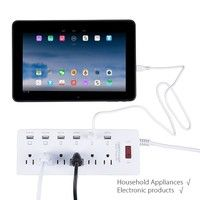Wish | DBPOWER 6 US Outlet & 6 USB Charging Ports Surge Protected Extension Lead Power Strip