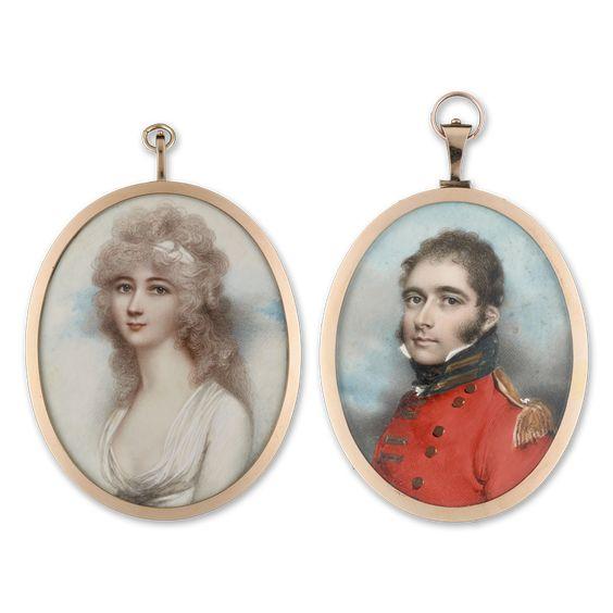 Retratos de Henriette y Jonh Crewe.