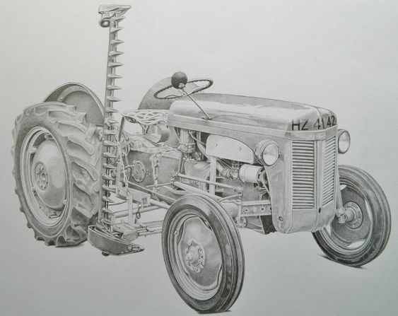 Line Drawing Tractor : Pinterest the world s catalog of ideas