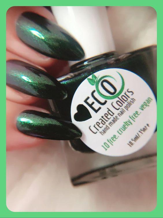 Green Shimmering Nail Polish Holiday Nails 10 Free Polish Etsy Nail Polish Holiday Nails Handmade Nail Polish