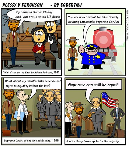 Plessy v Ferguson toondo cartoon