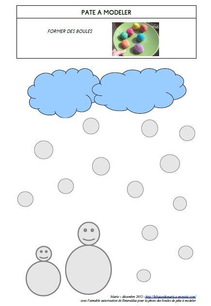 Fiche mod le p te modeler modelage pinterest - Modele bonhomme de neige ...