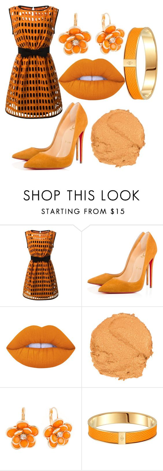 """""""Like a pumpkin! #ElizaOanea"""" by teodora12345 ❤ liked on Polyvore featuring Moschino, Lime Crime and Mixit"""