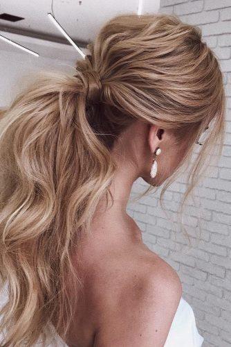 Best Wedding Hairstyles For Long Hair 2018 See More Https Www Weddingforward Com Wedding Long Ponytail Hairstyles Tail Hairstyle Ponytail Hairstyles Easy