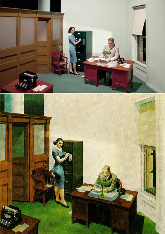 Cool.If It's Hip, It's Here: 13 Edward Hopper Paintings Are Recreated As Sets For Indie Film 'Shirley - Visions of Reality.':