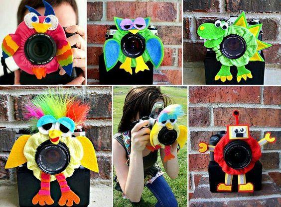 For kids who have a hard time looking at the camera why not just decorate it...