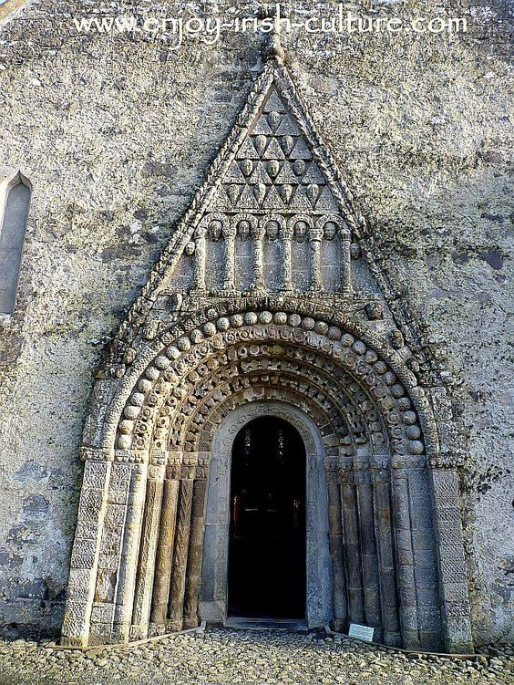 This is the Irish heritage site at Clonfert Cathedral, County Galway, Ireland built around 1180 which features the pinnacle of Romanesque art in Ireland in this stunning doorway carved from sandstone. Click on the photo to see the full Clonfert album as well as more of our beautiful Ireland pictures on our Facebook page.