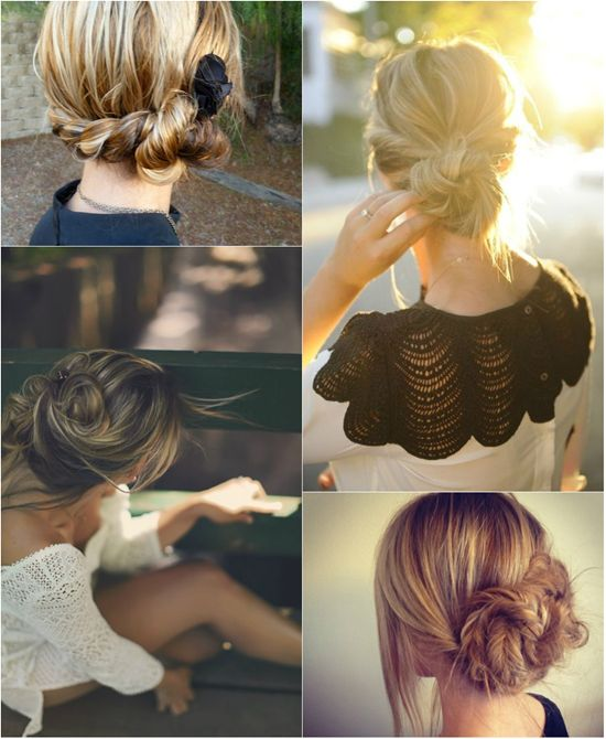 youthful and fashion messy twist hair bun with cheap clip on medium extension