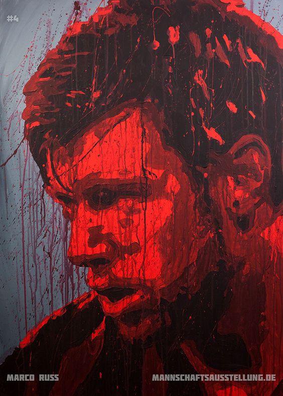 Marco Russ, Eintracht Frankfurt, acrylics on canvas, 70cmx100cm