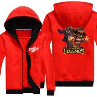 Plus size Annie long sleeve hoodie for men League of Legends