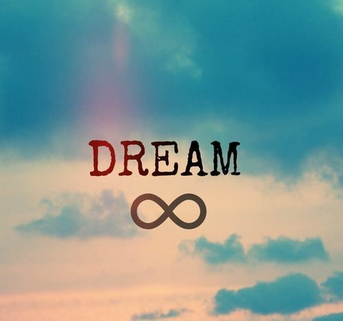 live, blue, Dream, infinity, love, sky, keep dreaming |