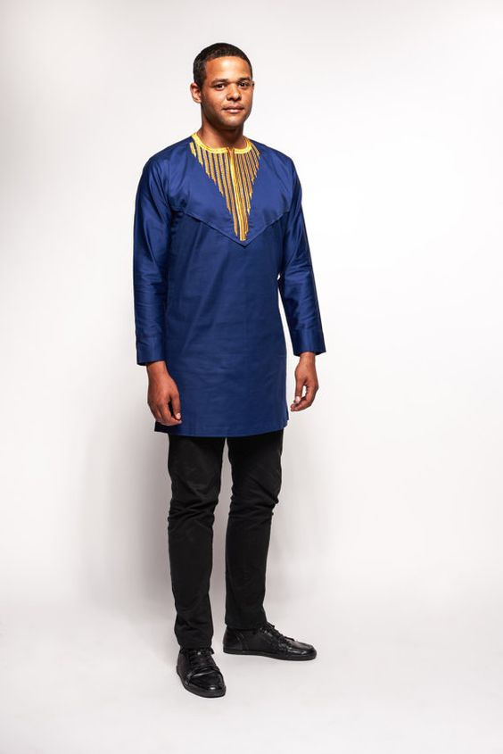 polished cotton woodin african men 39 s tunic by kwestomarkreations rpc afro pinterest. Black Bedroom Furniture Sets. Home Design Ideas