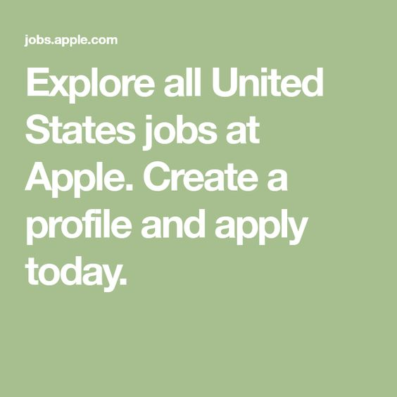 Explore All United States Jobs At Apple Create A Profile And