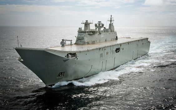 The largest ship ever built for the Royal Australian Navy, Landing Helicopter Dock NUSHIP Canberra