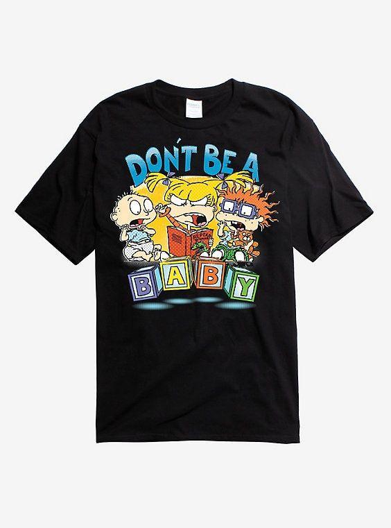 Rugrats Don T Be A Baby Black Shirt