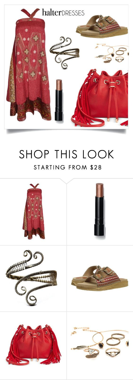 """""""boho"""" by im-karla-with-a-k ❤ liked on Polyvore featuring Bobbi Brown Cosmetics, Sbicca, INC International Concepts and halterdresses"""