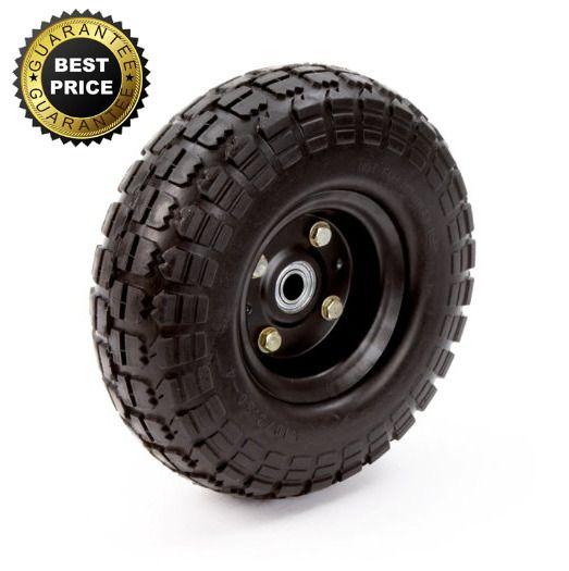 No Flat Tires Wheel Airless 10 Inch Hand Truck Garden Cart Replacement Tricam Hand Trucks Yard Carts Flat Tire