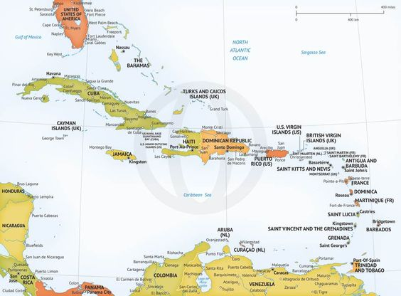 Map Of Caribbean Political Royalty Free High Resolution JPEG And - Aruba map vector