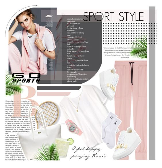 """Go Sporty!"" by monazor ❤ liked on Polyvore featuring JuJu, MANGO, Marco Bicego, BUSCEMI, Lacoste, Calvin Klein, Gucci and sportystyle"
