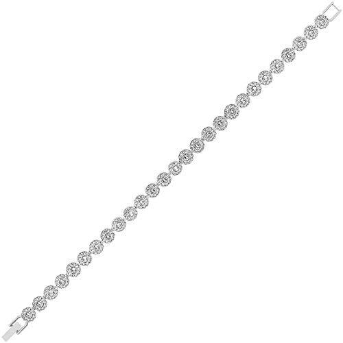 Best Bracelets For Women Swarovski Angelic Rhodiumplated Crystal Bracelet Read More At The Image Link It Is Amazo Crystal Bracelets Bracelets Swarovski