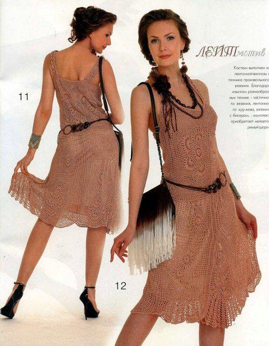 Crochet dress diagram pattern