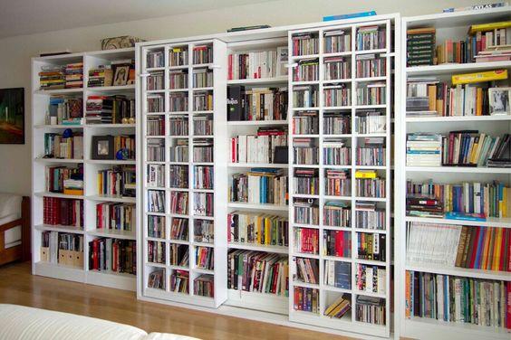 Ideias para estante de livros.