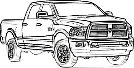 dodge longhorn truck coloring page