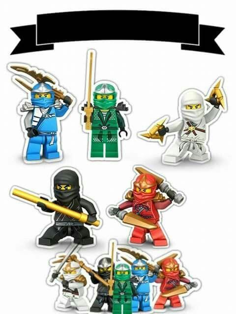 Phenomenal Ninjago Free Printable Cake Toppers Com Imagens Aniversario Funny Birthday Cards Online Elaedamsfinfo