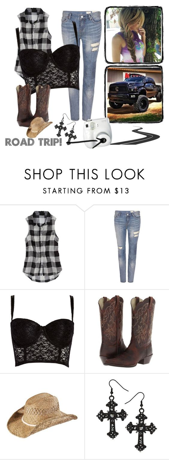 """""""Meeting Up With Friends"""" by jwpixie ❤ liked on Polyvore featuring American Eagle Outfitters, AllSaints, Forever 21, Ariat, KENNY and Polaroid"""