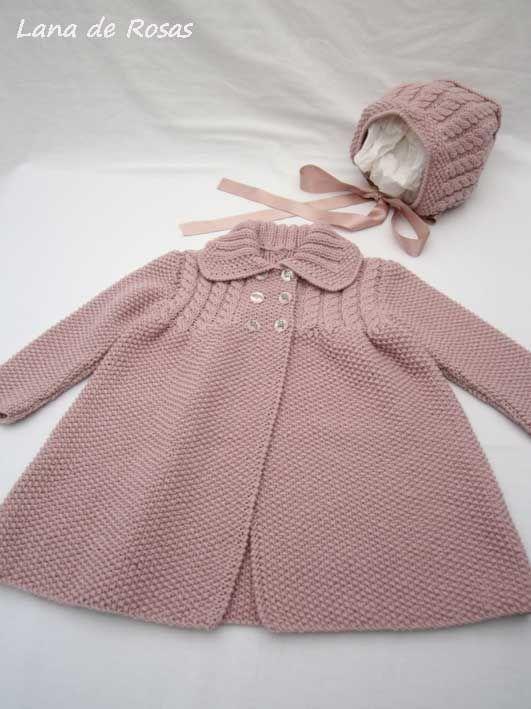 Abrigo ni a tejido ropa de ni a pinterest - Labores de punto de lana ...