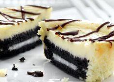 Para se deliciar com o melhor desses dois doces, confira a receita de cheesecake de Oreo. - Veja mais em: http://www.vilamulher.com.br/receitas/doces/cheesecake-de-oreo-m1214-693645.html?pinterest-mat