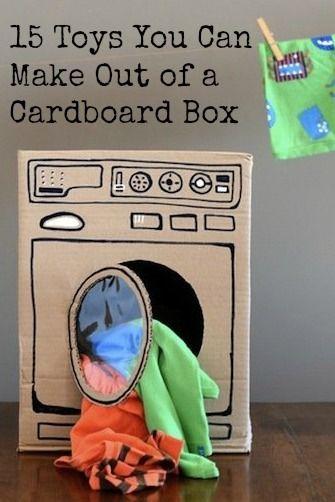 Speelgoed dat je kan maken met karton dozen - wasmachine