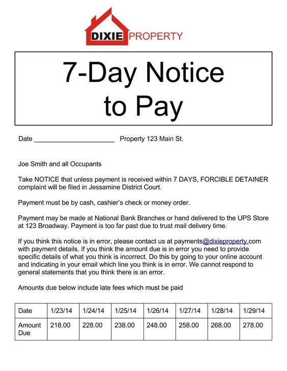 What is an eviction notice?