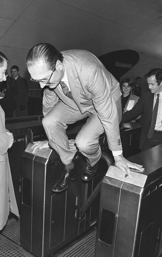 Paris metro station. Former French President Jacques Chirac