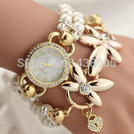 079de88a3ac Barato Moda de luxo relógios de quartzo mulheres pulseira mulheres relógio  de pulso Relogio Feminino Reloj Mujer relógio WQ275