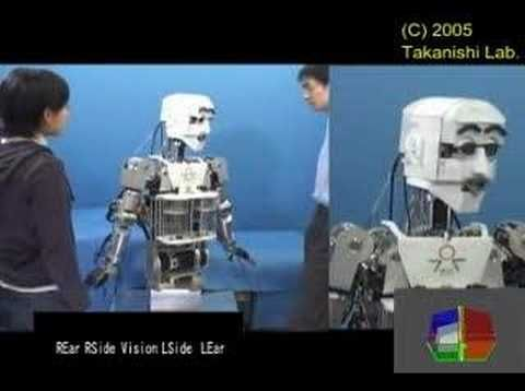 """The Takanishi WE-4RII Humanoid Robot - This is video from the Takanishi Lab in Tokyo, aptly titled, """"Consciousness""""."""