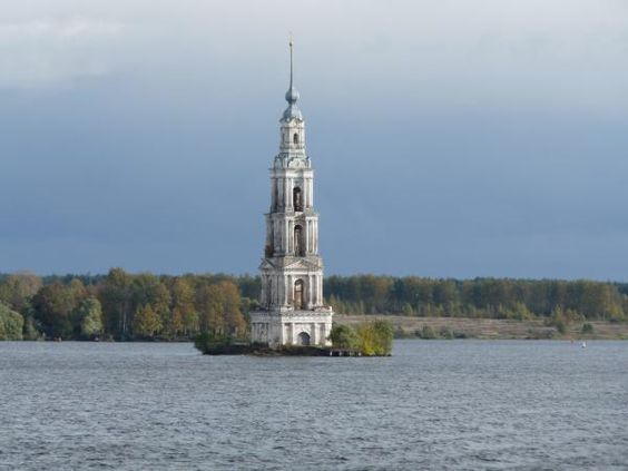 kalyazin bell tower, russia  via drowned churches, photo by michael clark