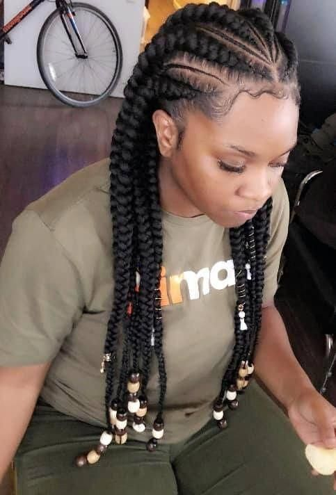 Hairstyles For Black Women Braid Hairstyles For Black Women Braided Hairstyles Braided Hairstyles For Black Women Cornrow Hairstyles African Braids Hairstyles