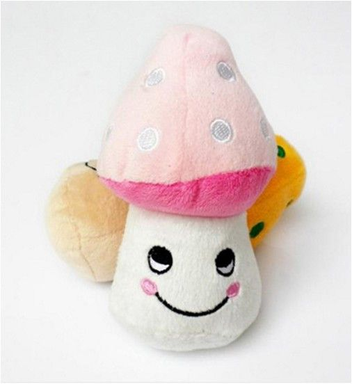 Lovely Mushroom Toy With Squeaker
