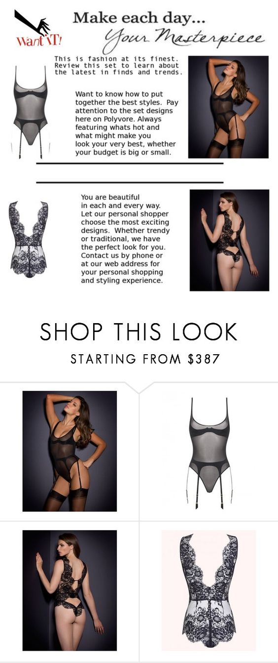 """""""Lingerie night!"""" by ieva-galvina ❤ liked on Polyvore featuring Agent Provocateur and WALL"""