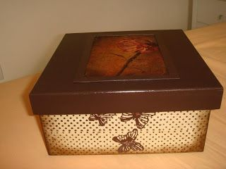 Arte lá em casa: Caixa para presente 13 Carimbos Loucas por Caixas