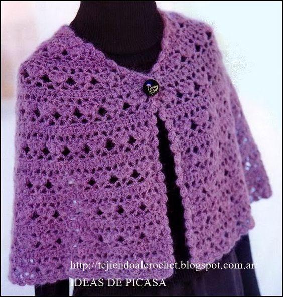 Capas De Crochet, Crochet Ganchillo, Patrones Crochet, Chales De Ganchillo, Chales Tejidos A Crochet, Túnica Crochet, Chal Tejidos, Sandalias Crochet,