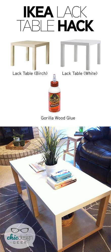 a new ikea table with more storage in 10 minutes lack table ikea table hack and lack table hack. Black Bedroom Furniture Sets. Home Design Ideas