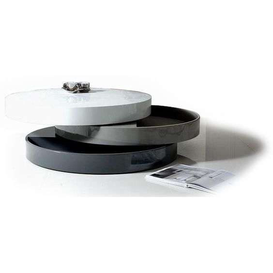 Round Coffee Table With Storage Mooka Contemporary Coffee Tables