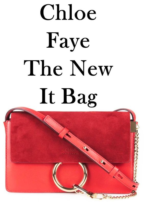 buy chloe bags online - Chloe Faye bag | bright red | suede flap | leather body ...