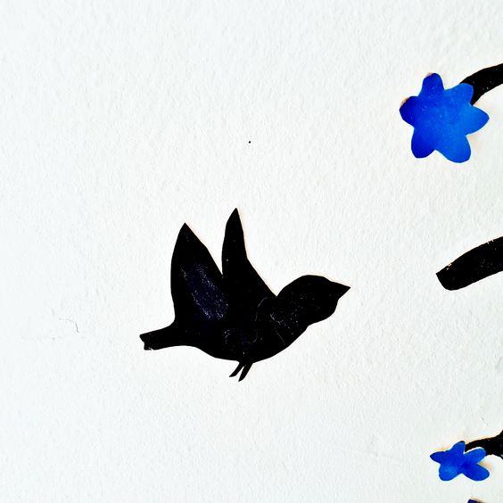 Wandtattoo Baum mit Vögel
