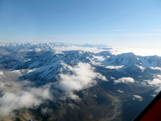 Termination dust; seen from the west side of the Alaska Range. Photo provided by Geno Rohl.